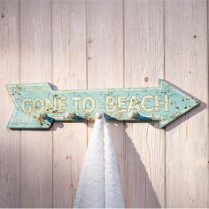 gone to the beach wooden arrow Wooden Arrows, Barn Wood, Bathroom Hooks, Valance Curtains, Beach House, Inspiration, Dreams, Travel, Home Decoration
