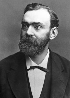 Alfred Nobel, a chemist who invented dynamite and used his fortune to posthumously institute the Nobel Prizes.