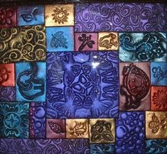 Nice mosaic tutorial by Tewee using textures and pearlex powders.