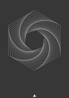 Hexagonal Print XII (60x80cm) Available for sale on Society6