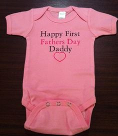 Happy First 1st Fathers Day Daddy custom newborn boy infant girl baby one piece snapsuit outfit, you choose color and size! on Etsy, $9.39