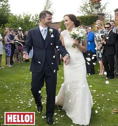 Victoria Pendleton (olympic golden girl) wore a Suzanne Neville dress to marry Scott Gardner [Hello] Sept 2013