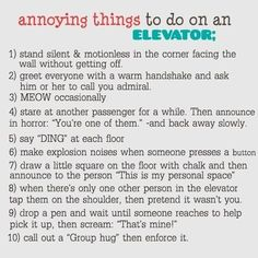 ROFLMAO - Which or how many of these have YOU done? :-)