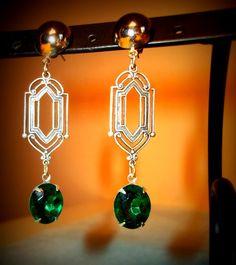 Great Gatsby Inspired The GREAT JAY GATSBY Art Deco Earrings by jillianlyonsdesigns, $22.00