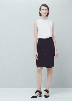 Dwukolorowa sukienka | MANGO