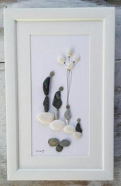 Pebble art family4 Family4 rocks pebble picture family4