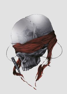 DEATH OR GLORY by Tomasz Majewski, via Behance #death #skull #illustration #drawing