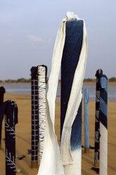 Textiles in art and nature. Whitworth Gallery, Land Art, Textile Design, Indigo, Street Art, Textiles, Tumblr, Fabrics, Uni