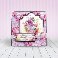 Card created using Hunkydory Crafts' Arranged with Love Craft Stack Kanban Cards, Hunkydory Crafts, Diy And Crafts, Paper Crafts, Shabby Chic Cards, Handmade Birthday Cards, Handmade Cards, Love Craft, Heartfelt Creations