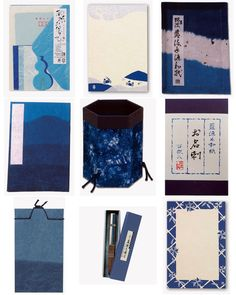 """anczelowitz: Indigo """"Aizome"""" washi paper products from Awagami Factory - 300 years of paper excellence in Tokushima, Japan Brand Identity Design, Branding Design, Tokushima, Mood Indigo, Japanese Paper, Book Binding, World Best Photos, Traditional Art, Washi"""