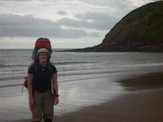 That's a darn big rucksack!  Getting boots wet at St Bees Head