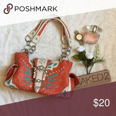 Western style purse for sale Western style handbag for sale! Has real and coral accents. Used just to go to rodeo events. purchased from a boutique in Montana Bags