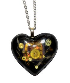 50 x Dr Who Inspired Steampunk 'Cracks in Time' Heart Necklace. Hand Made in Cornwall, UK by thelongwayround on Etsy Dr Who, Cornwall, Steampunk, Geek Stuff, Pendant Necklace, Jewellery, Inspired, Christmas Ornaments, Holiday Decor