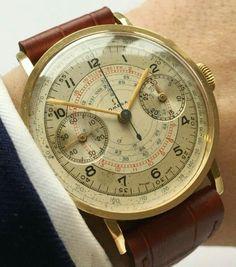 Impresionante Omega, año 1.940 , Cronometer Jumbo en Oro macizo de 18 k./ 17.000 €.