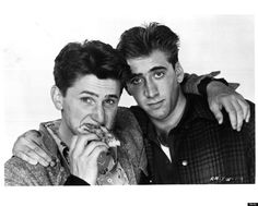 Forgotten Celebrity Friendships Of The 80s        Sean Penn and Nicolas Cage in 1984