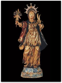 Santa Luzia madeira dourada policromada coleção de Renato de Almeida Whitaker - São Paulo - Antonio Francisco Lisboa dito Aleijadinho (1738-1814)