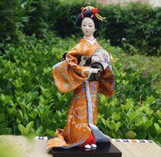 12'' tall Vintage Japanese Geisha Doll Kabuki Hinamatsuri Kimono Girl -Geisha 48