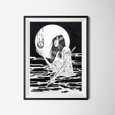 Welcome to the Spirit World This piece was inspired by Japanese ghost stories. High-quality digital art print of original drawing. Printed on 220 g/m² matte fine art paper. Spirit World, Cyberpunk 2077, Dark Fantasy Art, Ghost Stories, Fine Art Paper, A4, Digital Art, Neon, Art Prints
