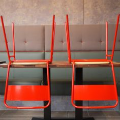 Red Working Girl Chair by David Irwin