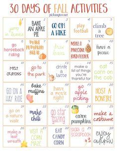 Herbst Bucket List, Fun Fall Activities, Calendar Activities, Daily Activities, Indoor Activities, Happy Fall Y'all, Fall Family, Fall Halloween, Halloween 2020