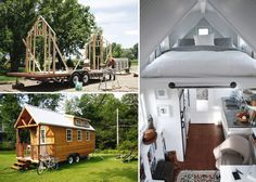 Tiny House On Wheels That Is Going Places - Modern Survival Living Cosy House, Tiny House Nation, Little Houses, Tiny Houses, Portable House, Micro House, Tiny House Movement, Tiny Spaces, Small Space