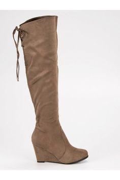 Béžové čižmy na klinovom opätku CM Paris Tommy Hilfiger, Platform, Wedges, Paris, Boots, Fashion, Crotch Boots, Wedge, Montmartre Paris