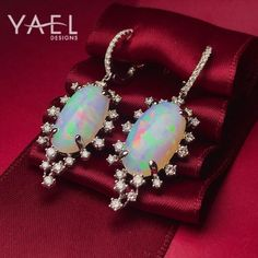 "229 Likes, 8 Comments - Yael Designs (@yaeldesigns) on Instagram: ""Fill her life with color this holiday season with unique white opal earrings. #WhatsYourColor…"""