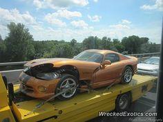 Dodge Viper GTS crashed in Quebec, Canada