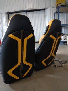 Automotive Upholstery, Car Upholstery, Yellow Camaro, Car Costume, Mini Cooper Classic, Car Interior Design, Riyadh, Amazing Cars, Cars And Motorcycles