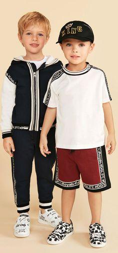 Cuties! Love the Dolce Gabbana Junior Boys Spring Summer 2018 Collection. #dolcegabbana #DGFamily #kidsfashion #boy #fashion