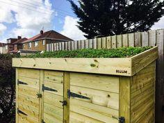 Green Roof Bin & Log Storage                      – Bluum Stores