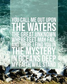 Oceans  Hillsong United  Worship Art  Lyric by unearthedproducts, $5.00