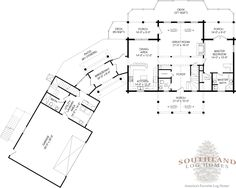 """""""The Anson"""" is one of the many log cabin home plans from Southland Log Homes. You can customize the Anson to meet your exact needs with our free design tools."""