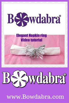 How to video tutorial for Elegant Napkin Ring for a wedding or special occasion
