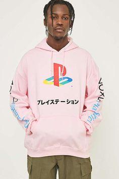 f2408355f07d Slide View  1  Urban Renewal Pink Playstation Hoodie Hoodies