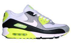 Nike Air Max 90 Black White Medium Grey Volt Trainers Sizes UK 6-12 ab645d8df