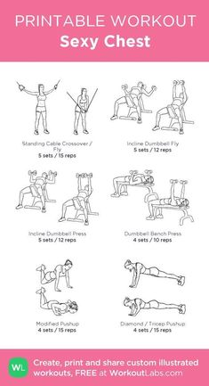 16 Intense Chest Workouts That Will Lift & Firm Up Your Chest! 16 Intense Chest Workouts That Will Lift & Firm Up Your Chest! Chest And Tricep Workout, Chest Workout Women, Triceps Workout, Chest Workouts For Women, Chest Workout At Home, Gym Workout Plan For Women, Shoulder Workout Women, Chest And Shoulder Workout, Back And Bicep Workout
