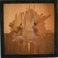 Oli on Wood by Carlota Delgar from Catalunya #Oil peinteur #Pintura a l'Oli #Art #Fusta #Dibuix i Pintura #Dibujo y Pintura #twin