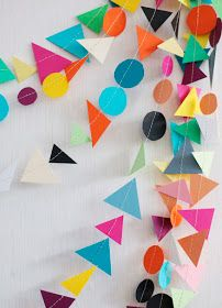 Be Different...Act Normal: Colorful Paper Garland