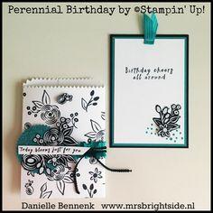 Perennial Birthday, de tweede stempelset die ik gebruikte voor mijn On Stage display voorbeelden. Een fijne veelzijdige stempelset van Stampin' Up!