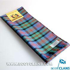 Clan Logan / MacLennan Ancient Tartan Wool Scarf