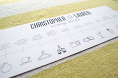 Day of the Wedding Timeline  Customizable Printable by LAShepherd