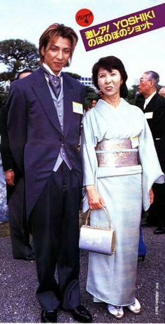 Yoshiki and his mom