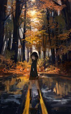 Pixiv id 8236670 anime scenery in 2019 anime art, anime, ani Anime Girl Cute, Beautiful Anime Girl, Kawaii Anime Girl, Anime Art Girl, Manga Art, Anime Girls, Fan Art Anime, Anime Artwork, Aesthetic Art