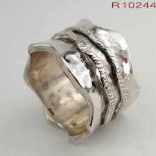 Unique Silver And Gold Wide Wedding Bands For Him Her