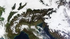 A massive cloudbank covered central Europe in early November 2011