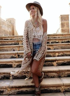Hollow out Open front Knit Cardigan with Tassel | victoriaswing