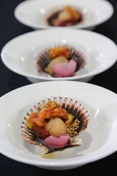 """Art or food? How about both? Our Lexus Culinary Master Dominique Crenn concocted this irresistible sea urchin appetizer during the """"Pardon My French"""" luncheon at Pebble Beach FOOD & WINE. To see what other delicacies await Lexus owners, click through to the Lexus Drivers site."""