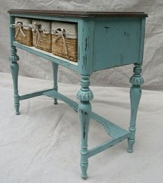 Lovely idea !!!! table with one big draw to three drawers for more orginizing options