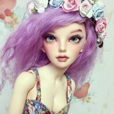 Her new eyes ❤️ #bjd #fairyland #minifee #siean
